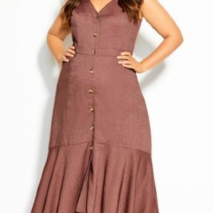 Sweetie button maxi dress